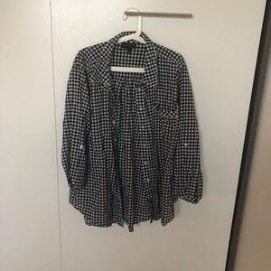 Black and white gingham button down